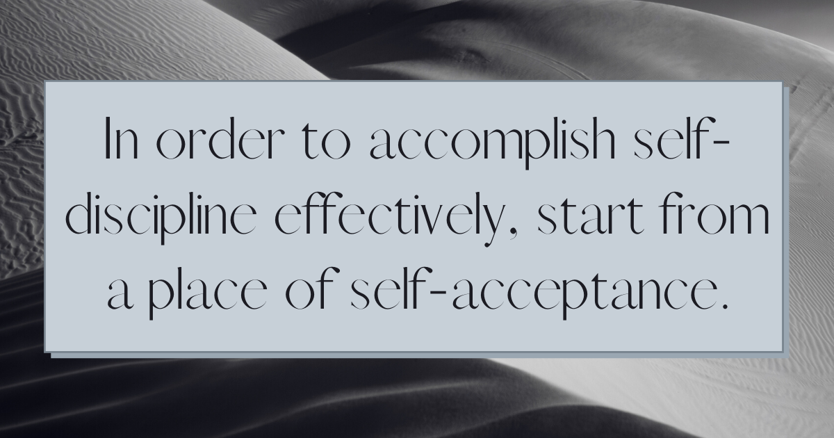 What is the meaning of self-discipline?